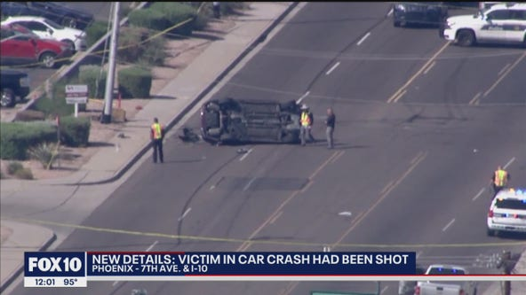 Phoenix police: Man in rollover crash had been shot