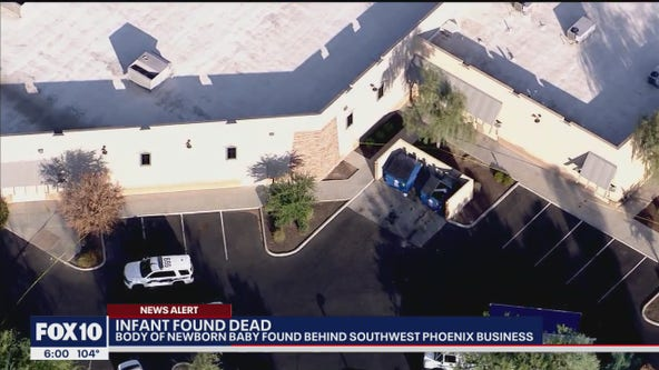 Police: Infant found abandoned, dead near dumpsters in southwest Phoenix