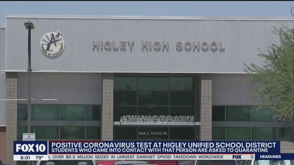 Confirmed case of coronavirus in Higley Unified School District