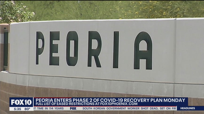 City of Peoria to enter Phase 2 of COVID-19 recovery plan on Sept. 28
