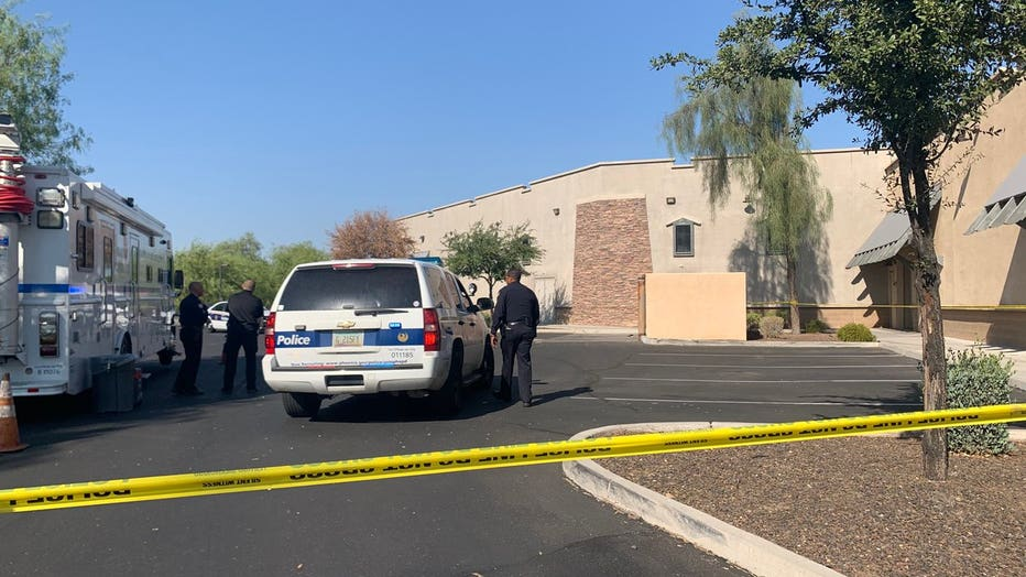 Police are on scene where a baby was found dead behind a business in southwest Phoenix.