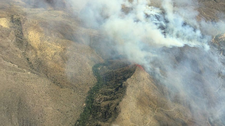 Fire crews are battling the 450-acre Sears Fire that started on Sept. 25.