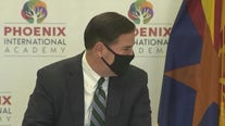 Gov. Ducey talks about ongoing COVID-19 pandemic as number of new cases increase in Arizona