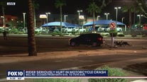 Motorcyclist fighting for his life after being struck by Glendale driver