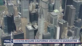 New York, New Jersey and Connecticut requiring Californians to quarantine before visiting