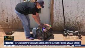 Republica Empanada in Mesa collecting supplies for Navajo Nation