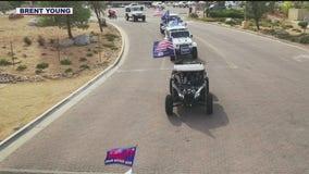 Caravans show support of President Trump in Prescott and Queen Creek
