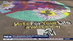 MTV organizes art event in downtown Phoenix to encourage people to vote