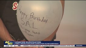 Family holds balloon launch for homicide victim's birthday