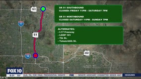 Traffic alert: Major closures planned for State Route 51