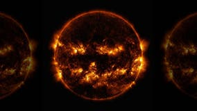 Spooky 'Halloween' sun seen in NASA image
