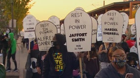 Protesters take to the streets in St. Paul over Chauvin release