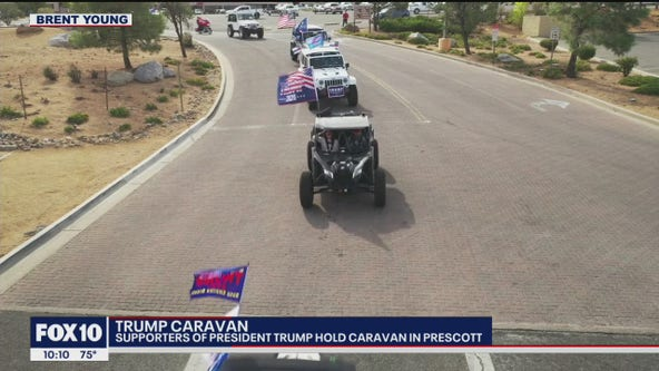 Caravans show support of President Trump in Prescott and Queen Creek