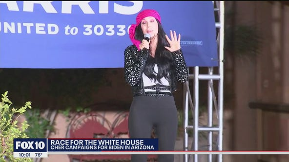 Singer Cher campaigns for Joe Biden in Phoenix on Oct. 25, 26