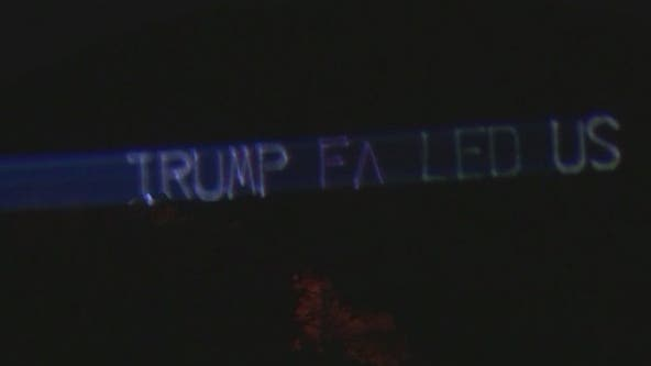'Trump failed us': Anti-Trump light display shown on Camelback Mountain