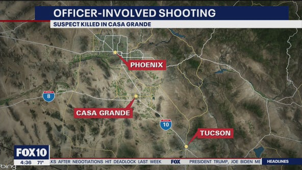 Suspect shot, killed in Casa Grande police shooting