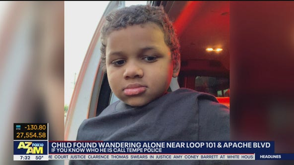 PD: Naked boy found wandering alone in Tempe