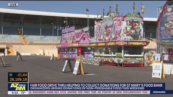 Arizona State Fair food drive-thru collecting donations for St. Mary's Food Bank