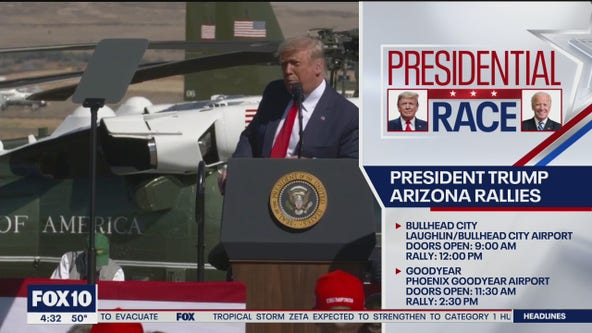 President Donald Trump holding two Make America Great Again rallies on Oct. 28 in Arizona