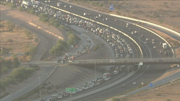 Long backup after wrong way crash closes Loop 101