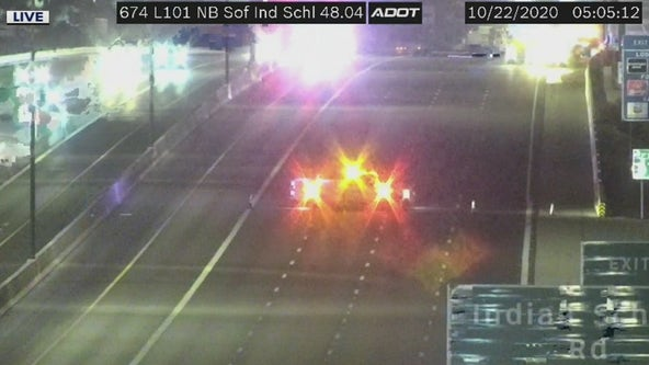 Loop 101 closed at Indian School Rd after deadly wrong-way crash