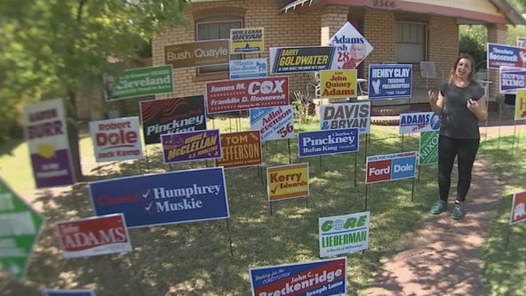 Phoenix home displays non-partisan political art installation