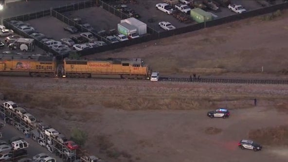 Person dead following crash involving train