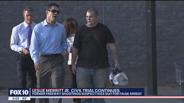 Civil trial brought by Leslie Merritt Jr. continues
