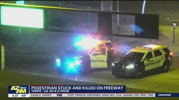 Pedestrian struck, killed on US 60 freeway in Tempe