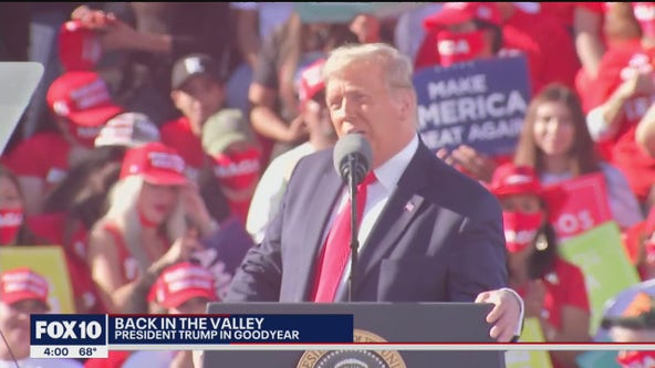 President Trump campaigns in Goodyear
