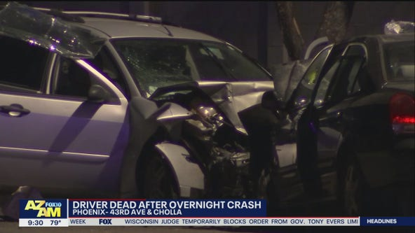 Woman killed in head-on crash near 43rd Avenue and Cactus in Phoenix