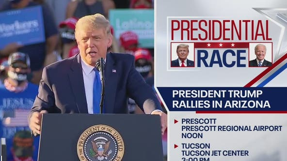 President Trump holds 'Make America Great Again' rallies in Prescott, Tucson