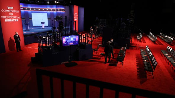 Presidential debate: Plexiglass barriers removed after Biden, Trump test negative for COVID-19