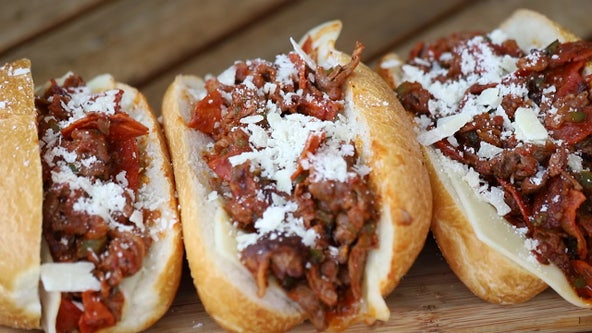 Recipe: Pepperoni pizza cheesesteak