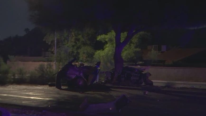 Driver killed after car crashes into tree in Phoenix
