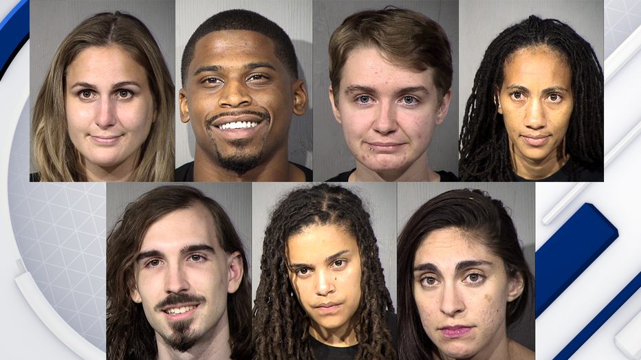 March for Justice mugshots