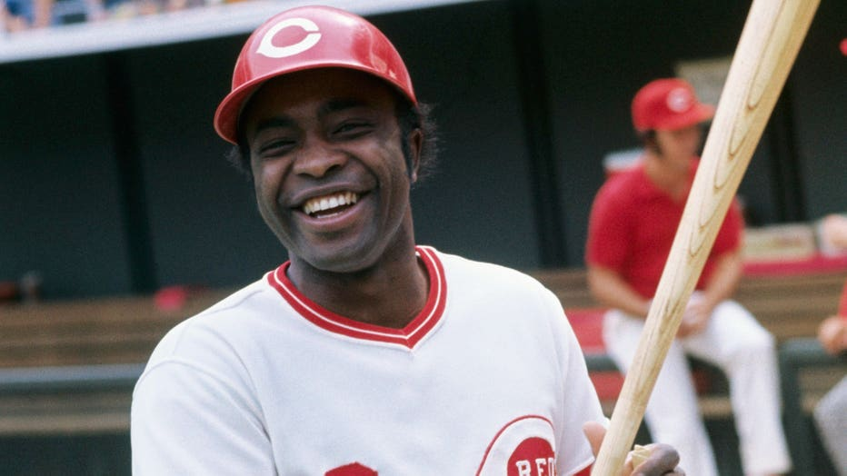 Joe Morgan Posing with Bat