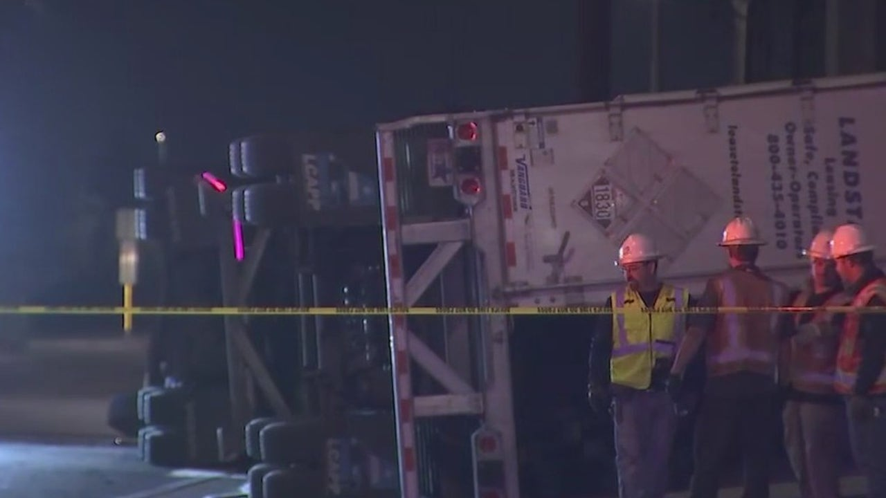 67th Avenue and Glendale closed after semi rollover...