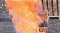 Firefighters demonstrate dangers of deep-frying your Thanksgiving turkey