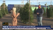 Boy Scout Troop 41 selling Christmas trees in Phoenix