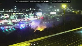Crews respond to brush fire near Loop 202 and McClintock in Tempe