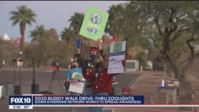 2020 Buddy Walk drives through the Phoenix Zoo for ZooLights exhibit