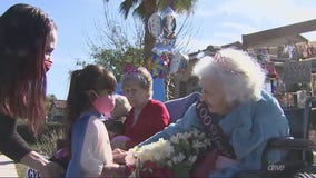 Gilbert woman who survived COVID-19 celebrates 100th birthday