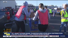 St. Mary's Food Bank holds last day of Thanksgiving food box distribution