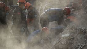 Onlookers weep with joy as crew rescues 2 girls from rubble in Turkey