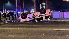 Phoenix police officer hospitalized following crash in West Phoenix