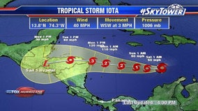 Tropical Storm Iota forms in Caribbean