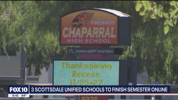 Three Scottsdale Unified schools to finish semester online