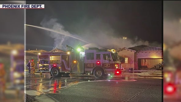 Glendale home destroyed in overnight fire; five people displaced