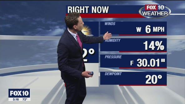 5 p.m. Weather Forecast - 11/29/20